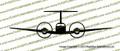 Beechcraft Super King Air 200 FRONT Vinyl Die-Cut Sticker / Decal VSKAF