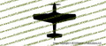 WWII Fighter P-51 d Mustang Top Vinyl Die-Cut Sticker / Decal VSP51T