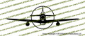 WWII Fighter P-51 d Mustang Front Vinyl Die-Cut Sticker / Decal VSP51F