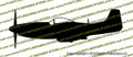 WWII Fighter P-51 d Mustang Profile Vinyl Die-Cut Sticker / Decal VSP51P
