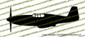 WWII Fighter P-51 c Mustang Bird Cage Profile Vinyl Die-Cut Sticker / Decal VSP51PBC