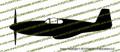 WWII Fighter P-51 c Mustang Malcolm Hood Profile Vinyl Die-Cut Sticker / Decal VSP51PMH