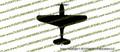 WWII Fighter P-40 b Tomahawk IIa Top Vinyl Die-Cut Sticker / Decal VSP40BT