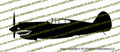 WWII Fighter P-40 b Tomahawk IIa Shark Mouth Profile Vinyl Die-Cut Sticker / Decal VSP40BPSM