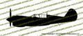 WWII Fighter P-40 n Warhawk Profile Vinyl Die-Cut Sticker / Decal VSP40NP
