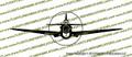 WWII Fighter P-40 n Warhawk Front Vinyl Die-Cut Sticker / Decal VSP40NF