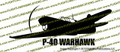 WWII Fighter P-40 b Tomahawk IIa Action v2 Left Vinyl Die-Cut Sticker / Decal VSP40BA2L
