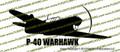 WWII Fighter P-40 b Tomahawk IIa Action v2 Right Vinyl Die-Cut Sticker / Decal VSP40BA2R