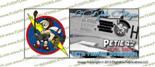 8th Air Force 487th Fighter Squadron 352nd Fighter Group Printed Vinyl Sticker John C, Meyer P-51 Mustang Petie 2nd