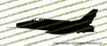 F-100 Super Sabre Profile Vinyl Sticker