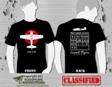 Legend Flyers A6M3 Type 32 Zero Black T-Shirt