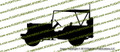 WWII US Army Willys Jeep with Top Vinyl Die-Cut Sticker / Decal VSWJ2