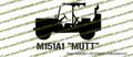 M151 Mutt Jeep Top Down M60 Vinyl Die-Cut Sticker / Decal VSM1513