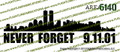 NYC Never Forget 9.11.01 Vinyl Die-Cut Sticker / Decal VSNYCV1