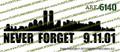 NYC Never Forget 9.11.01 Vinyl Die-Cut Sticker / Decal VSNYCV1