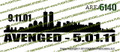NYC Avenged 9.11.01 Vinyl Die-Cut Sticker / Decal VSNYCV2
