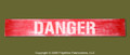 "DANGER : Hand Made Wood Sign 4"" x 24"" Hand Distressed"