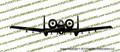 A-10 Thunderbolt II FRONT Vinyl Die-Cut Sticker / Decal VSFA10