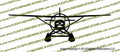 Cessna 185 Floats FRONT Vinyl Die-Cut Sticker / Decal VSFC185F