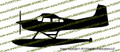 Cessna 185 Floats PROFILE Vinyl Die-Cut Sticker / Decal VSPC185F