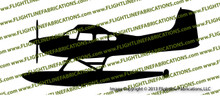 Cessna 185 Floats PROFILE Vinyl Die-Cut Sticker / Decal VSPC185F