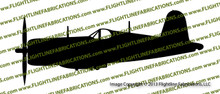 F4u Corsair Profile Vinyl Die-Cut Sticker / Decal VSTF4UP