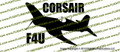 F4u Corsair Action Vinyl Die-Cut Sticker / Decal VSTF4UA