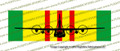"10"" x 3"" Vietnam Service Ribbon with C-130 Hercules  Front View SRVCC130"