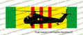 "10"" x 3"" Vietnam Service Ribbon with Sikorsky H-34 Choctaw Helicopter SRVH34S"