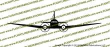 D-Day Airborne Douglas DC-3 C-47 Skytrain Dakota Front Vinyl Die-Cut Sticker / Decal VSFC471