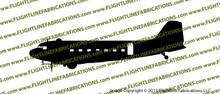 D-Day Airborne Douglas DC-3 C-47 Skytrain Dakota Profile Vinyl Die-Cut Sticker / Decal VSPC471