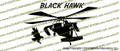 UH-60 Blackhawk Action Vinyl Die-Cut Sticker / Decal VSAUH601