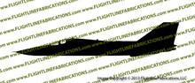F-111 Aardvark Profile Vinyl Die-Cut Sticker / Decal VSPF111