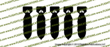 WWII M64 500lb Bomb { 5 PACK } Vinyl Die-Cut Sticker / Decal VSTM645PK