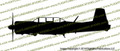Nanchang CJ-6 PROFILE Vinyl Die-Cut Sticker / Decal VSPCJ6