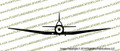 Nanchang CJ-6 FRONT Vinyl Die-Cut Sticker / Decal VSFCJ6