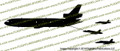 KC-10 Extender Refueling F-18 Hornets PROFILE Vinyl Die-Cut Sticker / Decal VSPKC10F18