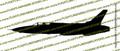 F-105d Thunderchief Supersonic Fighter-Bomber PROFILE Vinyl Die-Cut Sticker / Decal VSPF105d