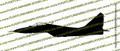 Mig-29 Fulcrum Fighter Jet PROFILE Vinyl Die-Cut Sticker / Decal VSPMIG29