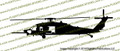 160th SOAR MH-60L DAP BLACKHAWK Helicopter PROFILE Vinyl Die-Cut Sticker / Decal VSPMH60L