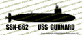 SSN-662 USS Gurnard US Navy Sturgeon-Class Submarine De Profundis Vinyl Die-Cut Sticker / Decal VSSSN662