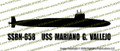 SSN-658 USS Mariano G. Vallejo US Navy Benjamin Franklin Class Submarine Vinyl Die-Cut Sticker / Decal VSSSN658