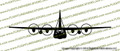C-130 Hercules Transport Aircraft FRONT Vinyl Die-Cut Sticker / Decal VSFC130