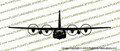 MC-130H Combat Talon II C-130 Hercules Transport Aircraft FRONT Vinyl Die-Cut Sticker / Decal VSFMC130H