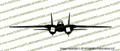 """Grumman F-14 Tomcat 12"""" FRONT Vinyl Die-Cut Sticker / Decal VSFF1412INCH"""
