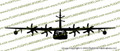 EC-130J Commando Solo Aircraft FRONT Vinyl Die-Cut Sticker / Decal VSFEC130J
