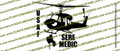 UH-1 Helicopter SERE MEDIC USAF Action Sticker Vinyl Die-Cut Sticker / Decal VSPUH1SM