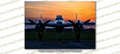 WWII B-25 Mitchell Betty's Dream at Sunset 8x12 Matte Finish Professional Photograph Doolittle Raiders Gathering of B-25's - Grimes, Urbana Ohio