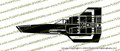 Battlestar Galactica 1978 Viper Mark I Vinyl Die-Cut Sticker / Decal VSBSGM1P