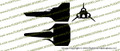 Battlestar Galactica 1978 Viper Mark I 3-View Vinyl Die-Cut Sticker / Decal VSBSGM13V